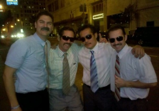 A few of the firefighters participating in Movember are on their way to the gala to celebrate another successful year.