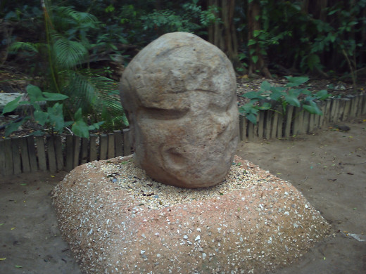 """Smiley"" Colossal Head, Parque-Museo de La Venta"