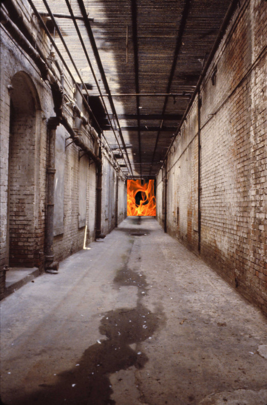 Yes, Hell is a prison and this is your last view of open spaces, the long hallway to your final resting place.  You will be locked away, your individual torment applied daily and then back to you bunk of burning embers, roasting you from head to toe