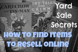 Items to buy at a yard sale and resell online