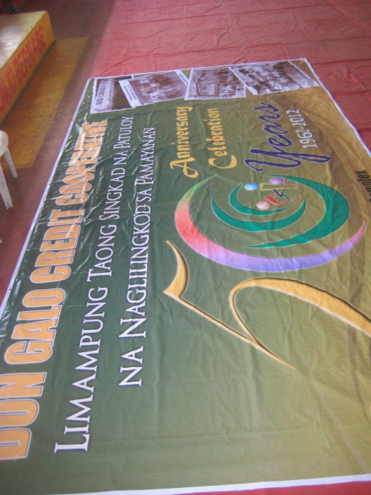 The huge DGCC tarpaulin
