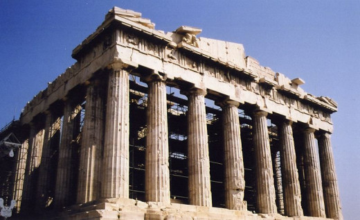 Nearly all of the Parthenon's elements show the golden ratio