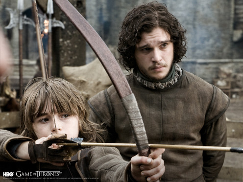 Jon Snow and his younger half-brother Bran Stark