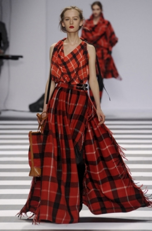 Designers have gone mad for plaid for Fall 2012