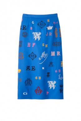 Write a love letter with Stella McCartney's embroidered skirt