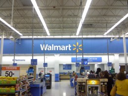 Interior of a Walmart store in Miami, Florida