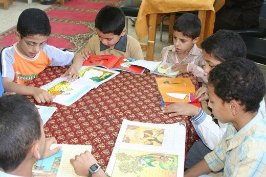 There is plenty of inspiration flowing around this table of young readers