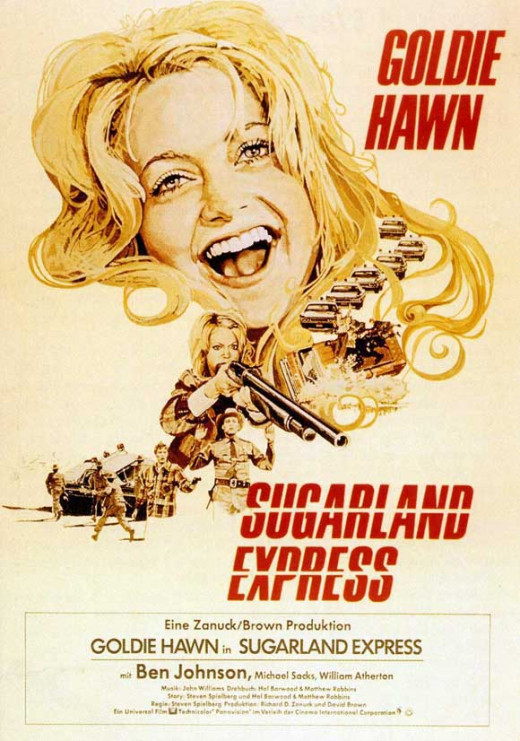 Sugarland Express (1974) German poster