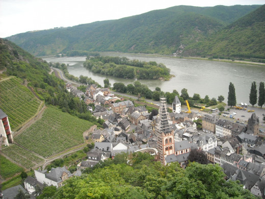 Rhine valley from Bacharach youth hostel.
