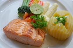Salmon: Easy to prepare, and rich in omega-3s.