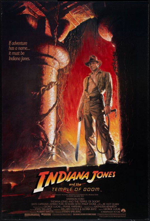 Indiana Jones and the Temple of Doom (1984) art by Bruce Wolfe