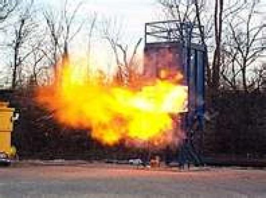 Explosion of hydrogen cyanide