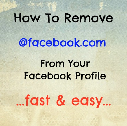 How To Remove The New Facebook Email Address From Your Facebook Profile