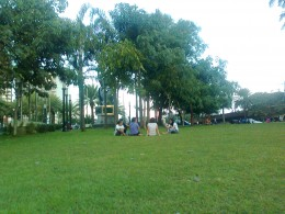 A Park where everyone can enjoy, old and young, they gather here reminiscing the past