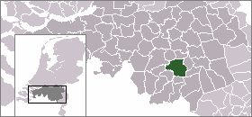 Map location of Eindhoven, The Netherlands