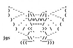 Darkly Creepy Gargoyles in ASCII Text Art