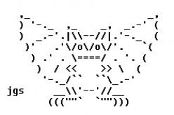 Darkly Creepy Gargoyles in ASCII Text Art