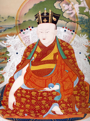 An centuries-old image depicting the Karmapa.