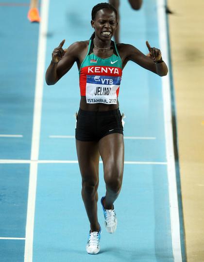 Reigning Olympic champion Pamela Jelimo