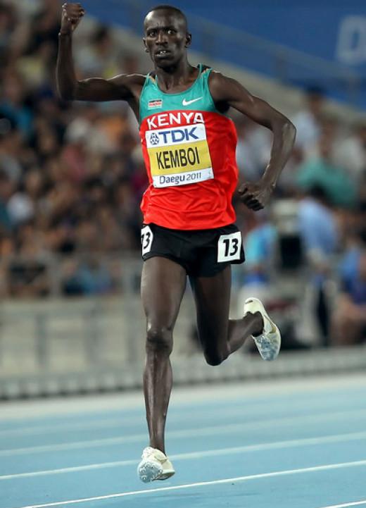 Ezekiel Kemboi, current world champion and Athens Olympics champion,