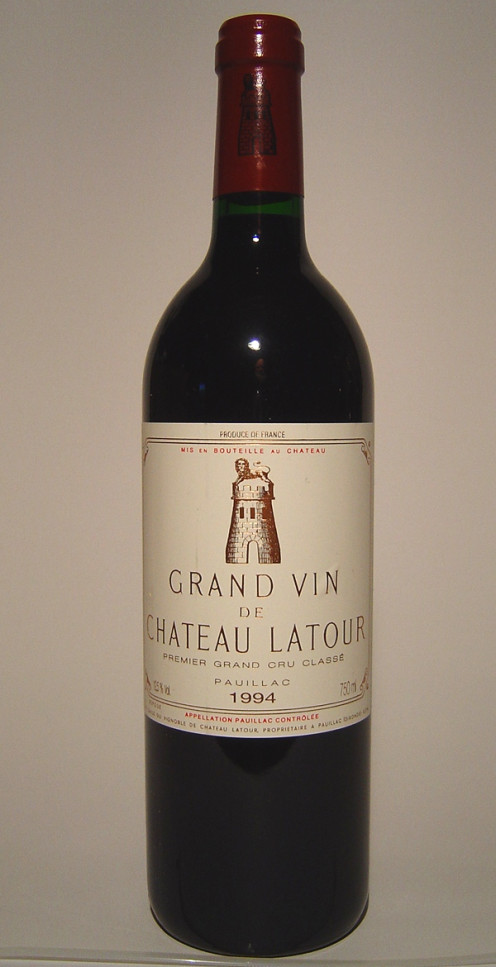 Chateau Latour with Tower on Label