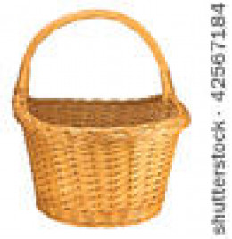 An empty basket with a handle
