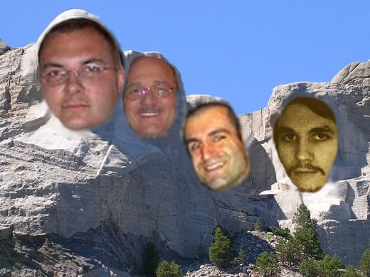 This Mount HubPages parody created by the author features the images of HubPages writers Dave Roome, Rick Stephen, Jason Menayan, and James Johnson.
