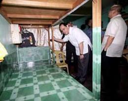 road rage suspect Jason Ivler's bunk at the Quezon City jail