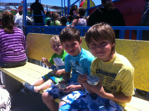 A new annual tradition:  fun in the sun on the first day of summer at the Santa Cruz Beach Boardwalk.