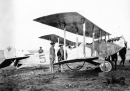 Curtiss JN-3 of the U.S. Army Signal Corps during the Pancho Villa puntive expedition (1915) - note red star insignia