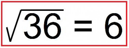 how to find square root of 36