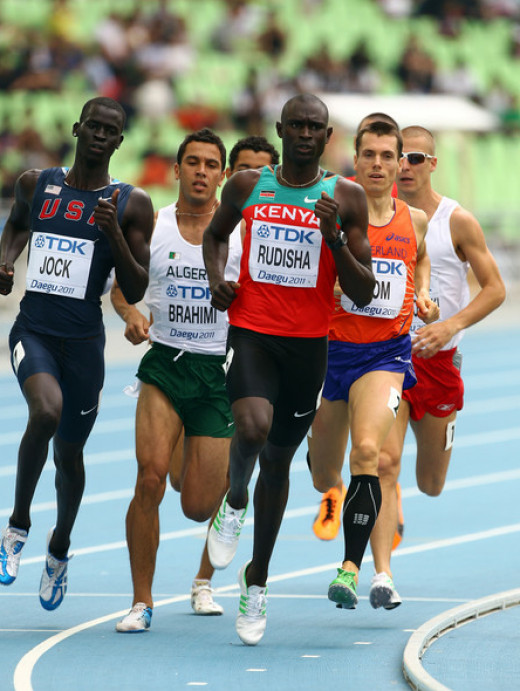 Men's 800 metres semi finals in Daegu, South Korea 2011.