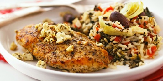 Greek Chicken With Rice