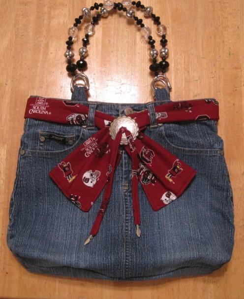 Denim Skirt Handbag: Project #2