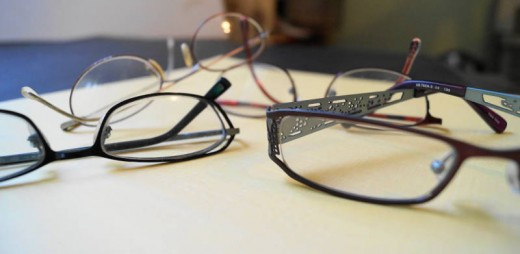 Computer glasses can guard against eye strain.  You can also use a present pair of glasses and get an anti-reflective coating put on the lenses.