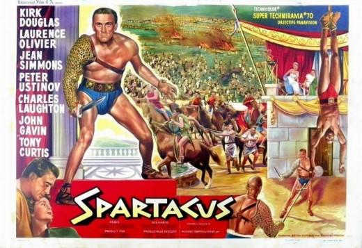 Spartacus (1960) Belgium poster