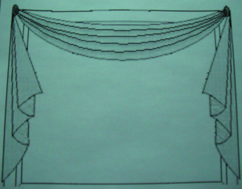 Scarf valances can be draped through sconces or over medallions.