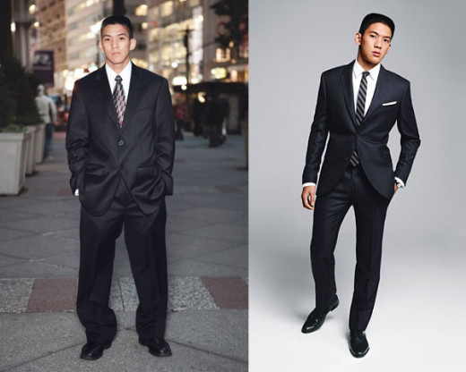Men's suit then and now, Regular Fit vs. Slim Fit