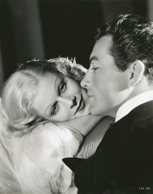 Jean Harlowe and Robert Taylor