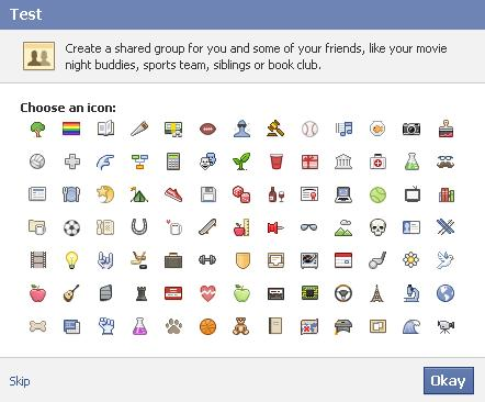 """Select an icon and then click """"Okay."""" Alternatively, don't select an icon and then click """"Skip."""""""