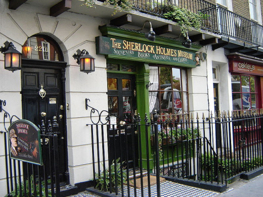 221B Baker Street.  Site of the Sherlock Holmes Museum
