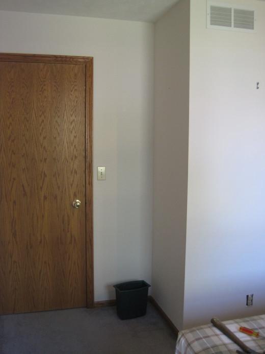 Plain white walls.