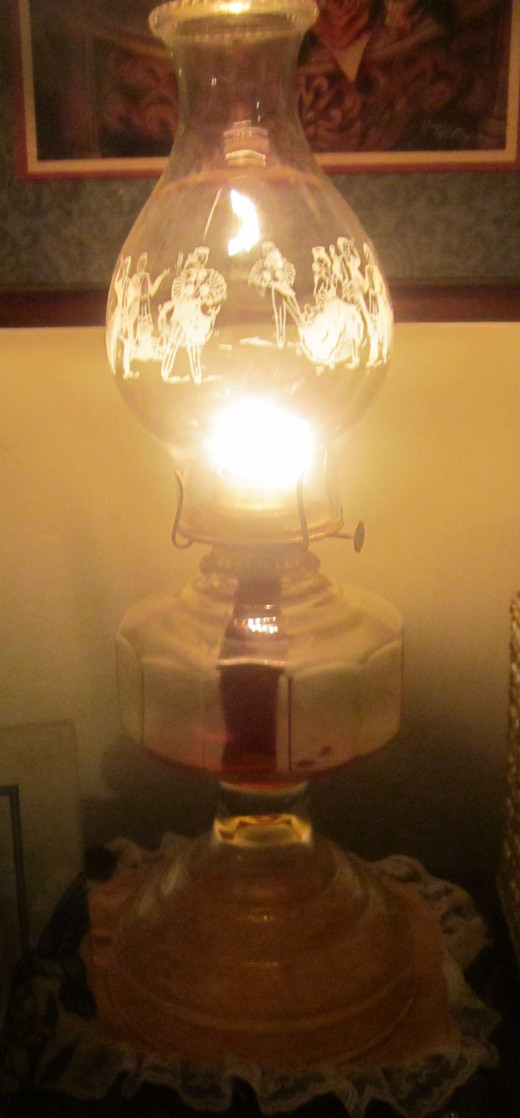 My Grandma's old oil lamp