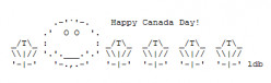 Happy Canada Day ASCII Text Art
