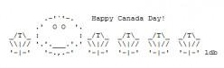 Happy Canada Day ASCII Text Art