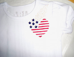 By comparison, this patriotic design is larger than the first one, but that adds to the whimsy.