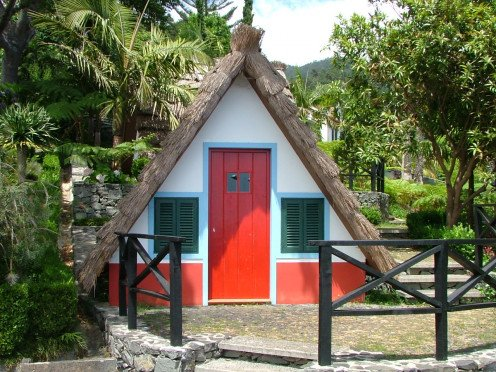 A typical A-Framed House in Santana