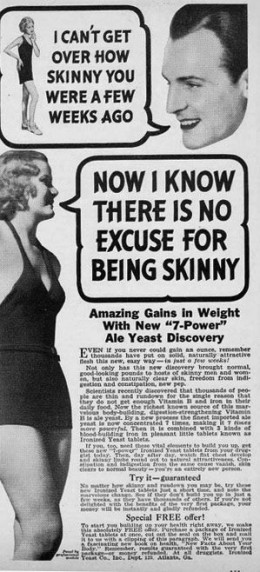 Advert showing how opinions about female beauty can change.
