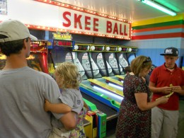 I forgot how much fun Skee Ball is!