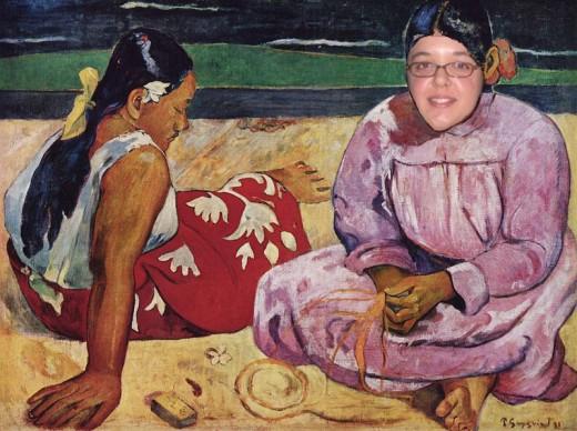 """Daisy Mariposa's """"Dana Strang on the Beach in Tahiti."""""""